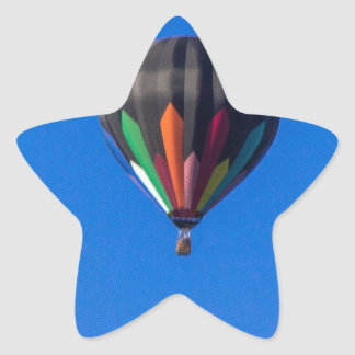 Heißluft-Ballon 1 Stern-Aufkleber