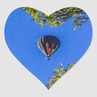 Heißluft-Ballon 2 Herz-Aufkleber