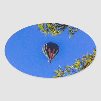 Heißluft-Ballon 2 Ovaler Aufkleber