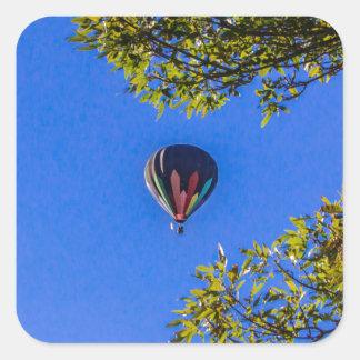 Heißluft-Ballon 2 Quadratischer Aufkleber