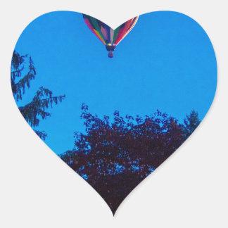 Heißluft-Ballon 3 Herz-Aufkleber
