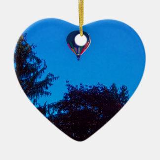 Heißluft-Ballon 3 Keramik Herz-Ornament