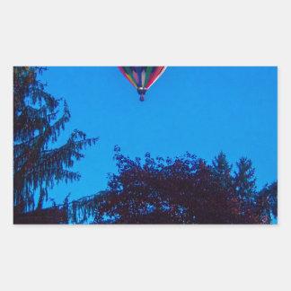 Heißluft-Ballon 3 Rechteckiger Aufkleber