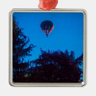 Heißluft-Ballon 3 Silbernes Ornament