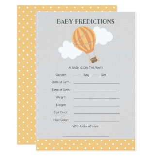 Heißluft-Ballon-Baby-Vorhersage-Karte Karte