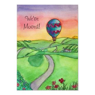 Heißluft-Ballon bewegte neue Adressen-Mitteilungen Individuelle Einladungen