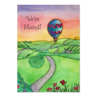 Heißluft-Ballon bewegte neue Adressen-Mitteilungen 12,7 X 17,8 Cm Einladungskarte