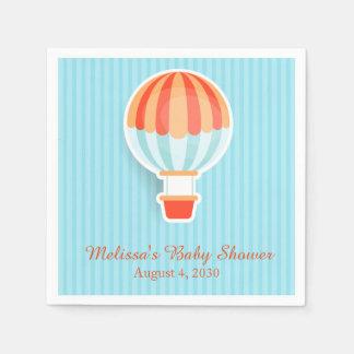 Heißluft-Ballon, blaue Streifen für Baby Serviette