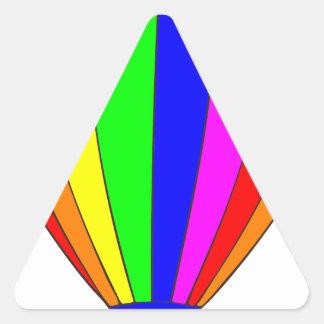 Heißluft-Ballon Dreieckiger Aufkleber