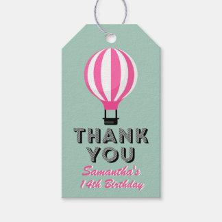 Heißluft-Ballon-Geburtstag Paris danken Ihnen Geschenkanhänger