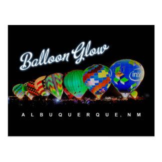 Heißluft-Ballon-Glühen Albuquerque, Nanometer Postkarte