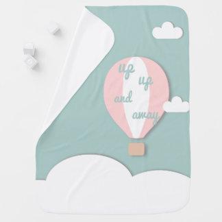 Heißluft-Ballon, herauf hohe und weg rosa Babydecke