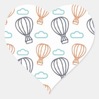 Heißluft-Ballon Herz-Aufkleber