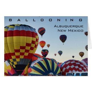 Heißluft-Ballon - im Ballon aufsteigend Karte