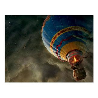 Heißluft-Ballon in der Sturm-Fantasie-Postkarte