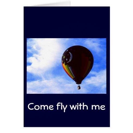 Heißluft-Ballon Karte