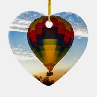 Heißluft-Ballon Keramik Herz-Ornament