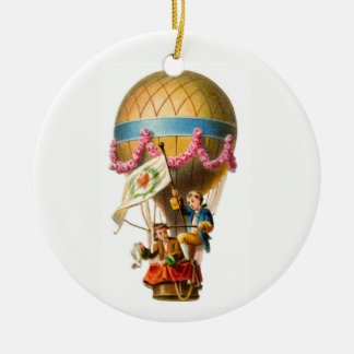 Heißluft-Ballon Keramik Ornament