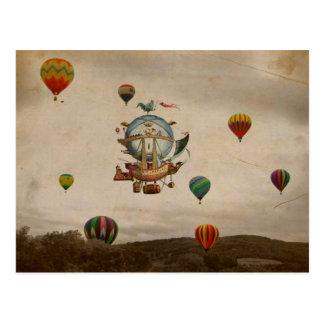 Heißluft-Ballon, La Minerve 1803 Reise in der Art Postkarten