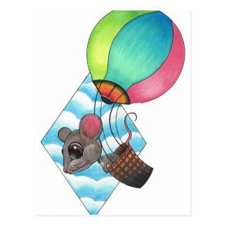 Heißluft-Ballon-Maus Postkarte