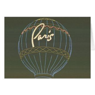 Heißluft-Ballon Paris Karte