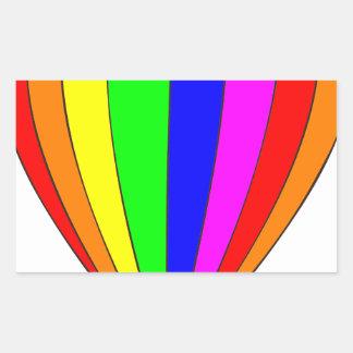 Heißluft-Ballon Rechteckiger Aufkleber