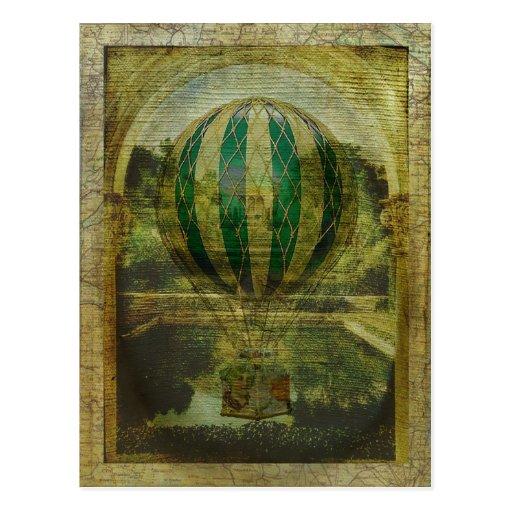 Heißluft-Ballon-Reise Postkarte