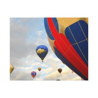 Heißluft-Ballon-Rennen in Reno Nevada Leinwanddruck