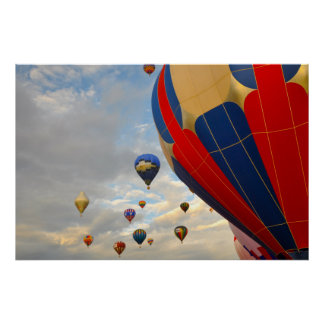 Heißluft-Ballon-Rennen in Reno Nevada Poster