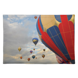Heißluft-Ballon-Rennen in Reno Nevada Stofftischset