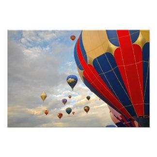 Heißluft-Ballon-Rennen Nevadas Fotodruck