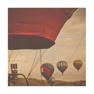 Heißluft-Ballon-Rennen Nevadas Holzleinwand