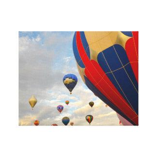 Heißluft-Ballon-Rennen Nevadas Leinwanddruck