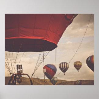 Heißluft-Ballon-Rennen Nevadas Poster