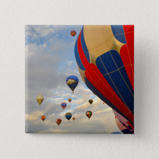 Heißluft-Ballon-Rennen Nevadas Quadratischer Button 5,1 Cm