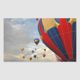 Heißluft-Ballon-Rennen Nevadas Rechteckiger Aufkleber