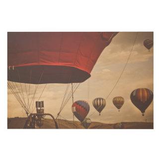 Heißluft-Ballon-Rennen Reno Holzwanddeko