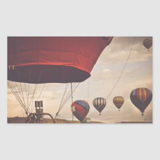 Heißluft-Ballon-Rennen Reno Rechteckiger Aufkleber