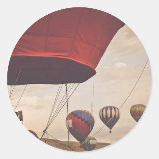 Heißluft-Ballon-Rennen Reno Runder Aufkleber