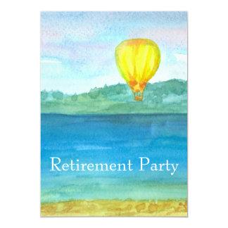 Heißluft-Ballon-Ruhestands-Party Einladung