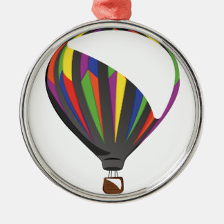 Heißluft-Ballon Silbernes Ornament