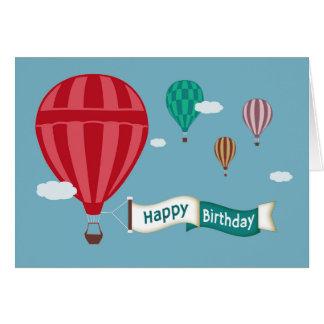 Heißluft-Ballone, die Fahnen-Geburtstags-Karte Karte