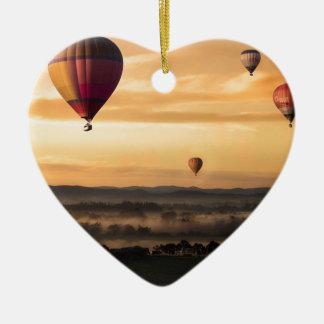 Heißluft-Ballone Keramik Herz-Ornament