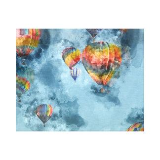 Heißluft-Ballone Leinwanddruck