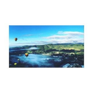 Heißluft-Ballone, Napa Valley Leinwanddruck