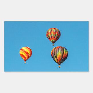 Heißluft-Ballone Rechteckiger Aufkleber