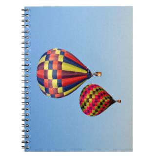 Heißluft-Ballone Spiral Notizblock