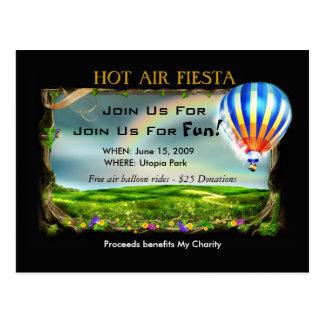 Heißluft-Fiesta-Einladung Postkarte