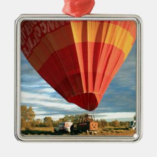 Heißluftballon des Hinterlandes, Australien Silbernes Ornament