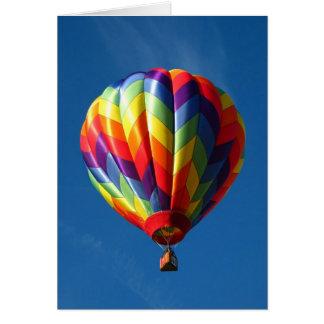 Heißluftballon des Regenbogens Grußkarte